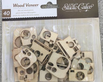 wood camera die-cut