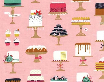 Michael Miller Fabric Bake Shop Collection Sweet Cakes in Confection, Choose your cut