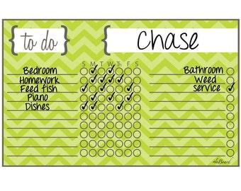 Custom Chore Chart,  Custom Chore Board
