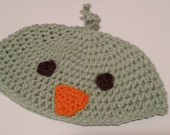 Mint Green Duck Hat; Baby Hat; Duck Hat; Easter Mint Green Duck Hat for Baby