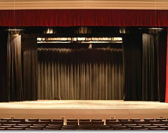 10'H x 5'W Stage Curtain /Theater BLACK~ Backdrop