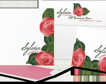 Painted Roses stationery