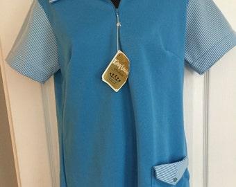 Vintage blue King Louie deadstock polo shirt MINT