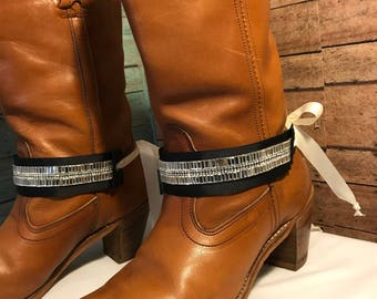 Free Shipping! Boot jewelry. Awesome bling! Pair (2) Reversible!