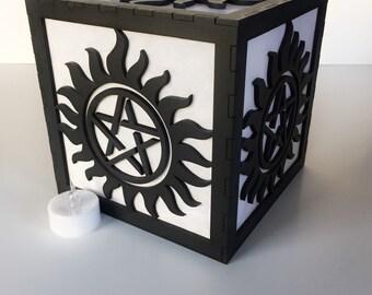 "Supernatural anti possession tattoo 6"" light box"