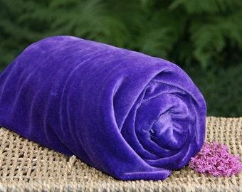 BAMBOO Velour Fabric, Certified Organic, Deep Purple,  select half yard,1, 2, 3, 4, 5, 7 yards