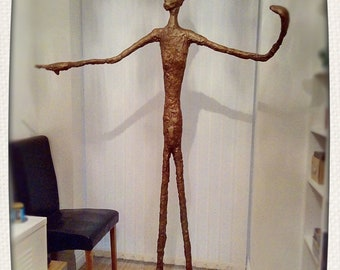 Alberto Giacometti style pointing man life size one off