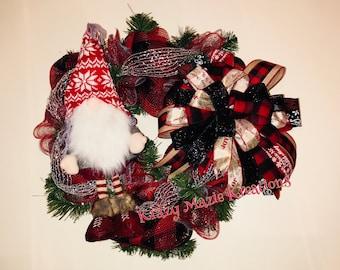 Gnome Plush Wreath