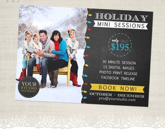 Holiday Mini Session Template for Photographers - MS07