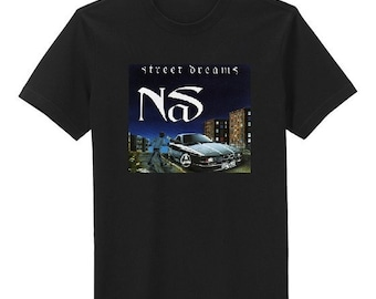 Custom Nas Street Dreams Single Album Cover Hip-Hop T Shirt  *all sizes, new*, rap novelty