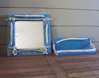 mirror + Driftwood shelf