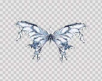 Stickers Decal Water Splash Butterfly Motorbike Sports 07126