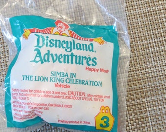 Vintage Lion King McDonalds Toy Sealed Simba