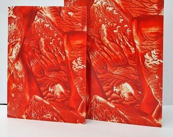 Greeting Card Encaustic Abstract Art
