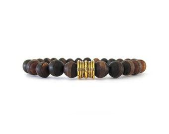 Men's Bracelet - Gemstone Bracelet - Men's Jewelry - Bracelets for Men - Gifts for Husbands - Stretch Bracelet - Men's Bracelet Bead - M0902