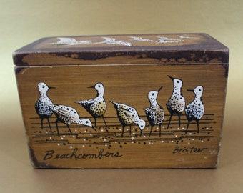 70s vintage Enid Collins box purse with birds Beachcombers Bristow