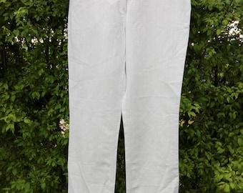 Natural cotton-linnen women's Bison pants