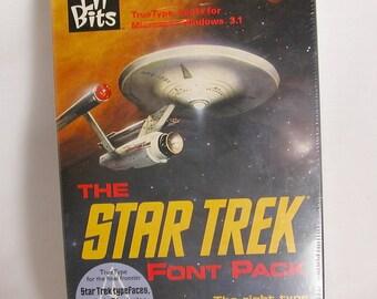 The Star Trek Font Pack Computer Fonts For Crafting, Scrapbooking, Insignias, Symbols, Typeface, Crafting, Vintage Fonts, Enterprise