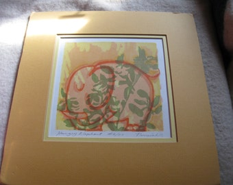 Elephant Watercolor Fine Art Print #6/20 by  Perreiah C Elephant Decor   free shipping u s a