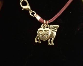 Heart my dog bracelet