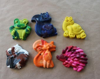Animal Crayons - Party Favor - Crayons - Valentines - Recycled - Kids Party Favors - Party - Shaped Crayons - Easter - Christmas
