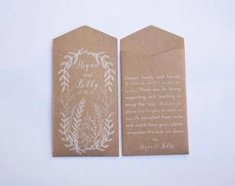50+ Custom Seed Packet Wedding Favors   Wedding Seed Favors   Personalized Seed Packet Favor   Favors for Wedding   Seed Wedding Favours