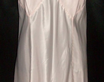 Vintage Barbizon Pink Satin Bryn Mode Satin Sylfaire Full Slip 40 - PRISTINE!