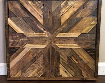Barn Wood Mosaic - Reclaimed Wood Art - Rustic Home Decor - Barn Wood Quilt - Wood Wall Art - Custom Wood Art