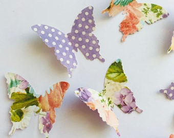 30 Butterfly Die Cuts, Paper Butterfly, Baby Shower Decor, Butterfly Decorations, Wedding Decor