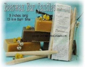 100 Pack of 100% Beeswax Ear Candles