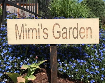 Personalized Garden Sign, Custom Garden Sign, Wood Garden Sign, Outdoor Wood Sign, Garden Sign,  Gift, , Yard Art, Fathers Day Gift
