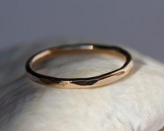 14k Gold Filled Hammered Stacking Ring