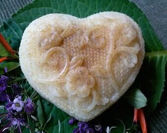 White Tea and Ginger Vegan Heart Soap