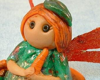 Pixie Fairy Fantasy Miniature Polymer Clay Art Doll OOAK