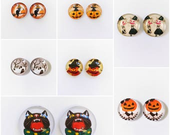 The 'Halloween Edition' Glass Earring Studs