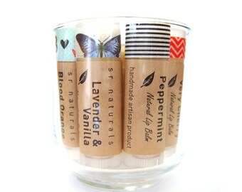 Peppermint + Wild Orange lip balm - all natural lip balm - organic lip balm - Bath & Beauty - Party Favors - Home and Living