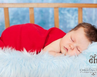 Red Gauze Wrap Newborn Baby Photography Prop