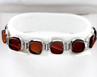 Amber Stones Bracelet, Amber & Silver Bracelet, Amber Link Bracelet, Sterling Silver Bracelet, Baltic Amber Bracelet, Amber Jewellery