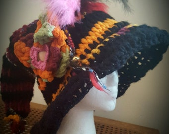 Fabulous Fire Mage -   Crochet Wizard or Witch Hat