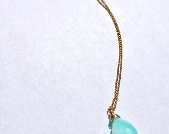 Rare Blue African Opal Necklace