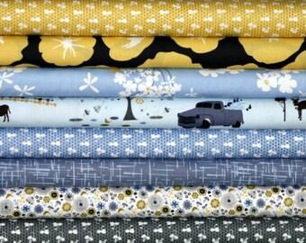 SALE Madrona Road Fabric Bundle for quilt or craft Violet Craft for Michael Miller 8 Fat Quarters