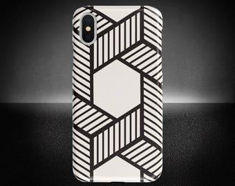 Geometric Line Phone Case, iPhone X Case, Geometric Phone Cover, Protective Phone Case, Samsung Note Case, Sturdy Phone Cover