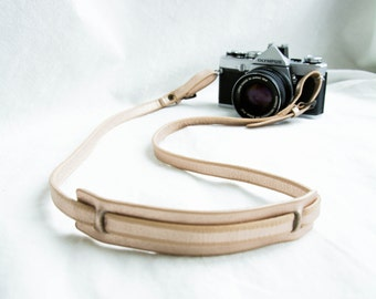 The Rose Gold Sling | Gold Leather Camera Strap, Thin Camera Strap, Women's Camera Sling, Rose Gold Leather, Stylish Camera Strap,
