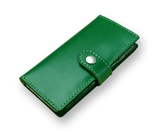iPhone 7 case wallet , Leather iPhone 7 Plus wallet case, Handmade iPhone wallet - Free Monogramming