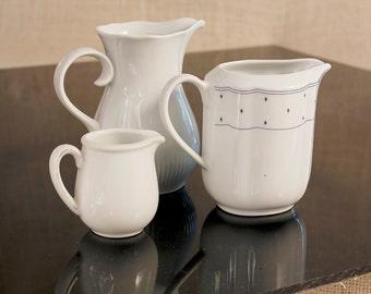 Set Pot creamer , Vintage Coffee Pot, Pot & Creamer, Coffee set, Milk Jug Set, Pretty peculiarity Pottery, Painted Coffee Cream and milkmaid