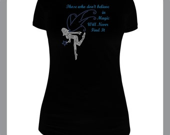 Adorable Fairy shirt with rhinestones and glitter