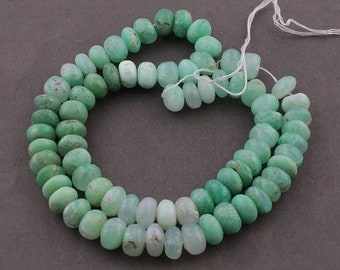 Memorial Day 1 Strand Chrysoprase Smooth Rondelles - Plain Roundel Beads 9mm-10mm 17 Inches SB4847