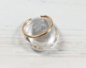 Solid 14K Rose Gold Round Wire Toe Ring