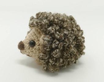 Little Crocheted Soft Toy Hedgehog, crocheted stuffy, hoglet