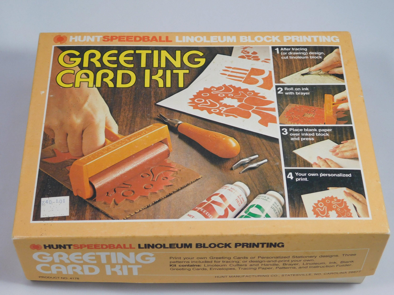 Speedball Greeting Card Kit Linoleum Block Printing